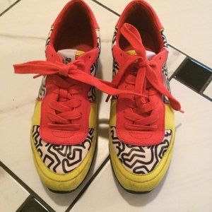 Rare Coach Love Womens Leather sneakers size 9